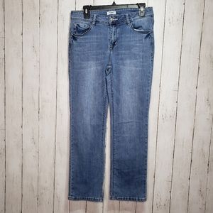 Kensie Jeans Light Distressing Straight Leg Size 8